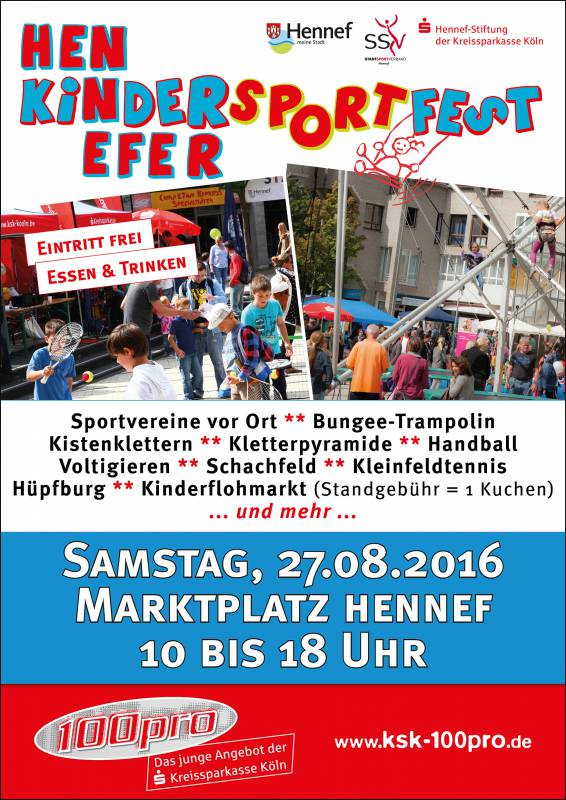 12. Hennefer KinderSportFest am 27. August Quelle: Stadt Hennef