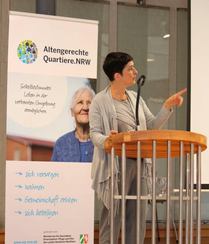 Ministerin Barbara Steffens als Ehrengast auf dem kivi Tag 2016 Quelle: Kivi e.V.