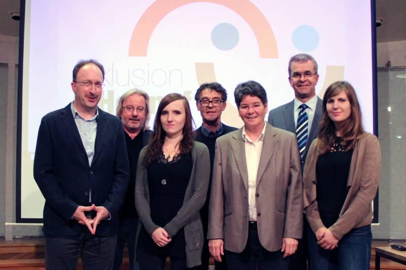 Gesamttreffen im Hennefer Inklusionsprozess: Treffen aller AKs – Präsentation des Logos Quelle: Stadt Hennef