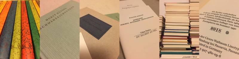 Bibliophiles im R² – Sonderkonvolut des Verlages Klaus G. Renner (Zürich & Ottiglio) Quelle: Buchhandlung R²