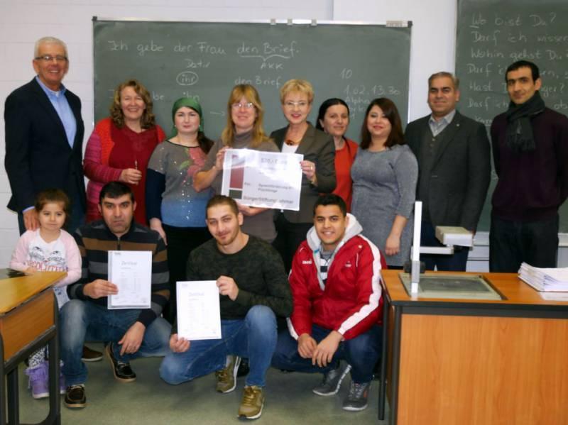 Sprachkurse für Flüchtlinge erhalten Unterstützung  durch die BürgerStiftungLohmar Quelle: BürgerStiftungLohmar