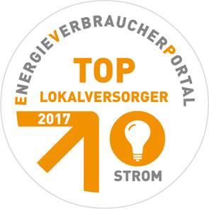 Stadtwerke Lohmar sind auch 2017 wieder TOP-Lokalversorger für Strom Quelle: Stadtwerke Lohmar