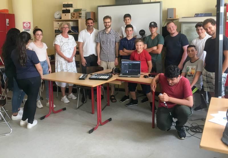 Rap-Workshop in der Europaschule Quelle: Stadt Troisdorf