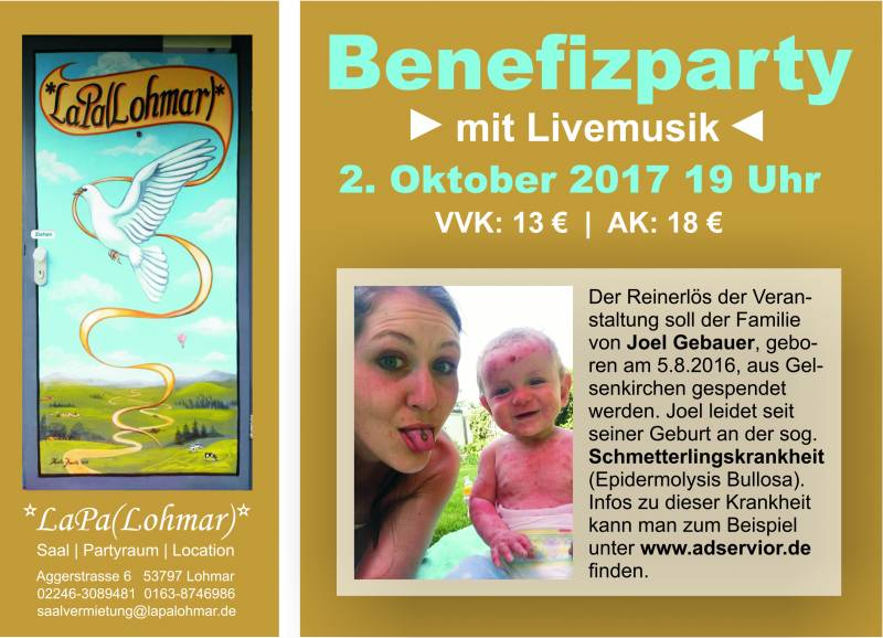 Schmetterlingskrankheit – Benefizparty Quelle: Petra Tetzlaff-Vajda