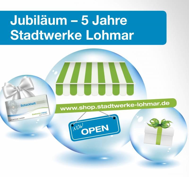 5 Jahre Stadtwerke Lohmar Online-Shop für alle!