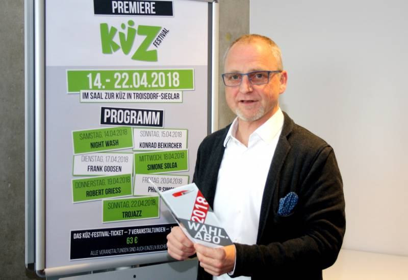 Viel Programm für Stadthalle und Küz 2018 Neues Wahl-Abonnement, neues Festival: