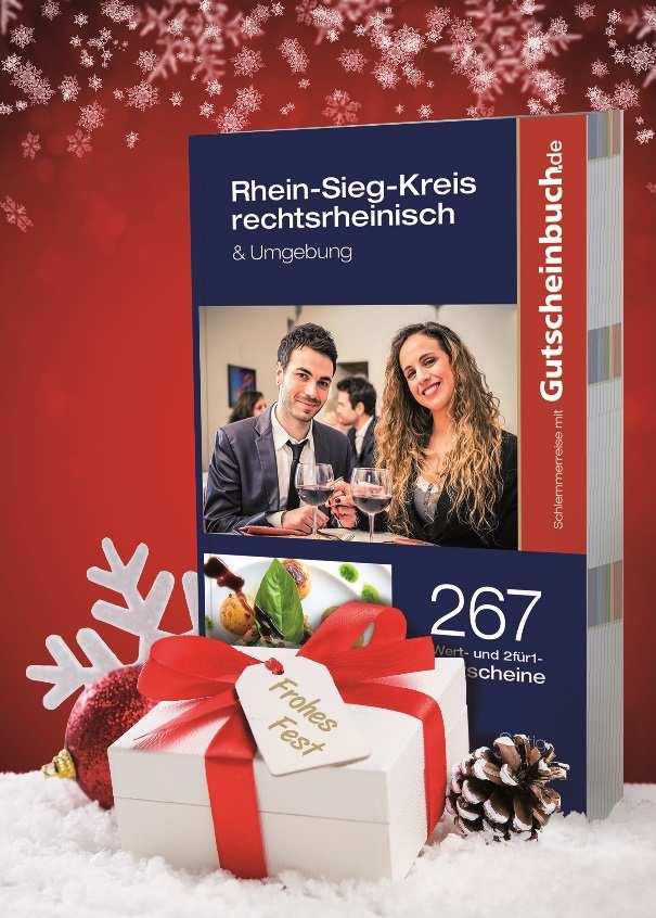 Ein Fest für Genießer im Rhein-Sieg-Kreis Genussmomente zu Weihnachten verschenken mit dem blauen Gutscheinbuch