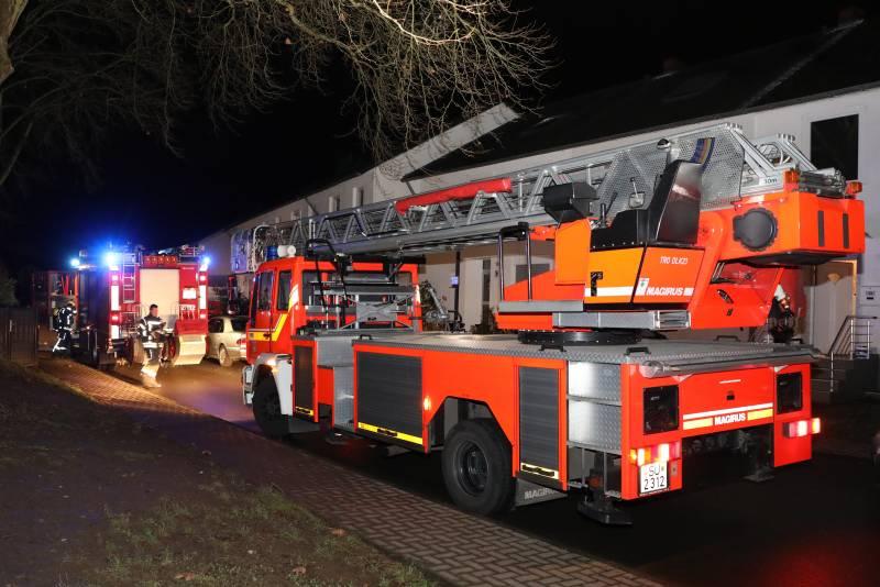 Brand in einer Dachgeschosswohnung