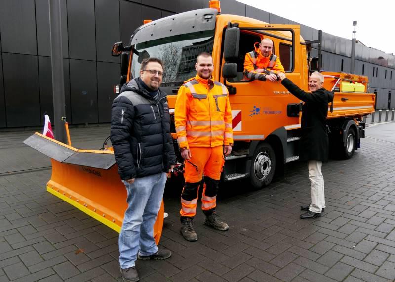 Neues Räumfahrzeug mit Sole-Sprüher Troisdorfer Bauhof bereitet Winterdienst vor
