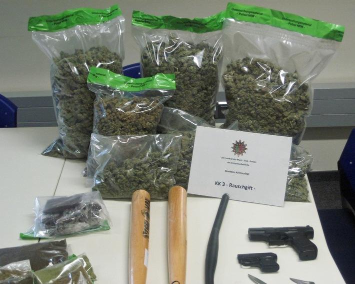 Ermittlungsgruppe der Polizei stellt 16 kg Drogen sicher Quelle: Kreispolizeibehörde Rhein-Sieg-Kreis