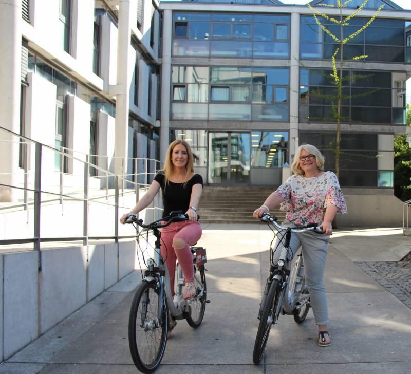Tourist-Info startete wieder E-Bike-Verleih Quelle : Stadt Hennef