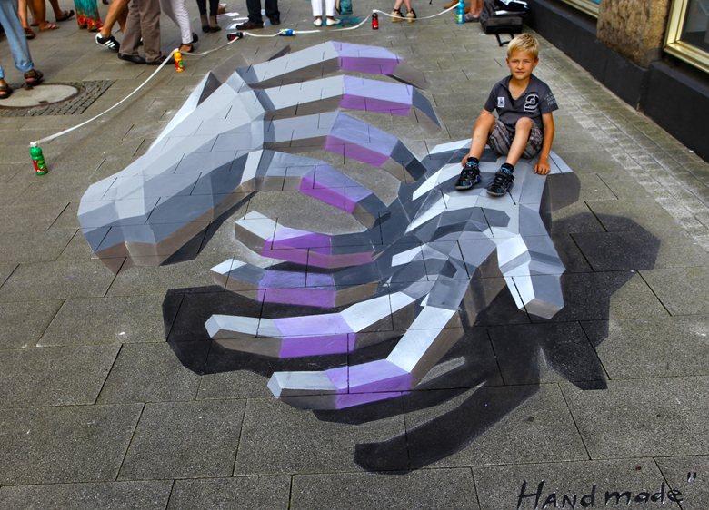 """Am 30. Juni und 1. Juli zweiter """"Augenschmaus"""" in der Innenstadt Bodypainting, 3D-Pflastermalerei, Graffiti, Livemusik, Streetfood und verkaufsoffener Sonntag"""