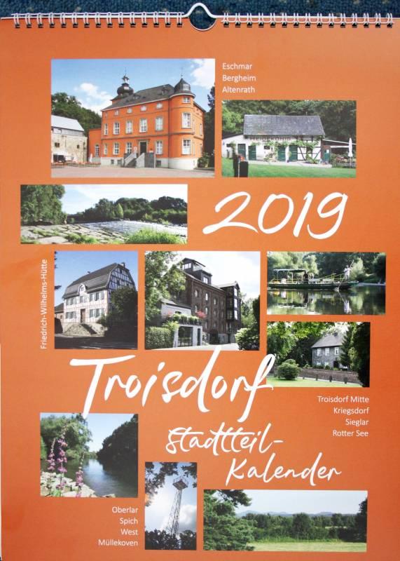 Troisdorfer Fotokalender 2019:  Tolle Fotos aus den 12 Stadtteilen! Quelle: STADT TROISDORF