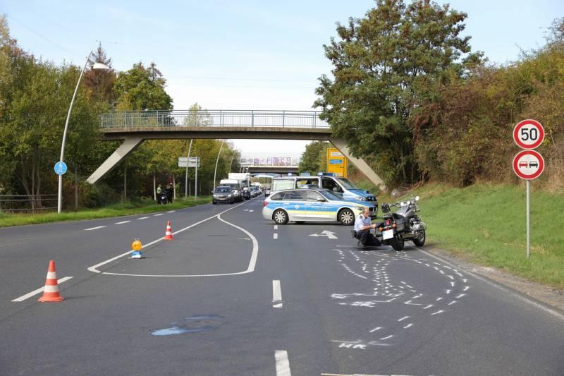 Motorradfahrer bei Sturz schwer verletzt in Siegburg
