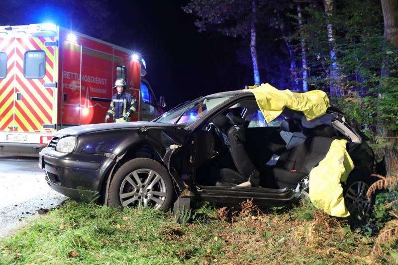 Alleinunfall mit schwer verletzter Fahrerin mit erheblichem Ermittlungsaufwand