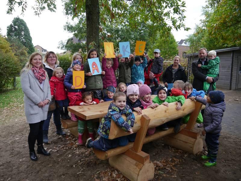 Neue Sitzgruppe für Kita Am Park Quelle: Stadt Sankt Augustin