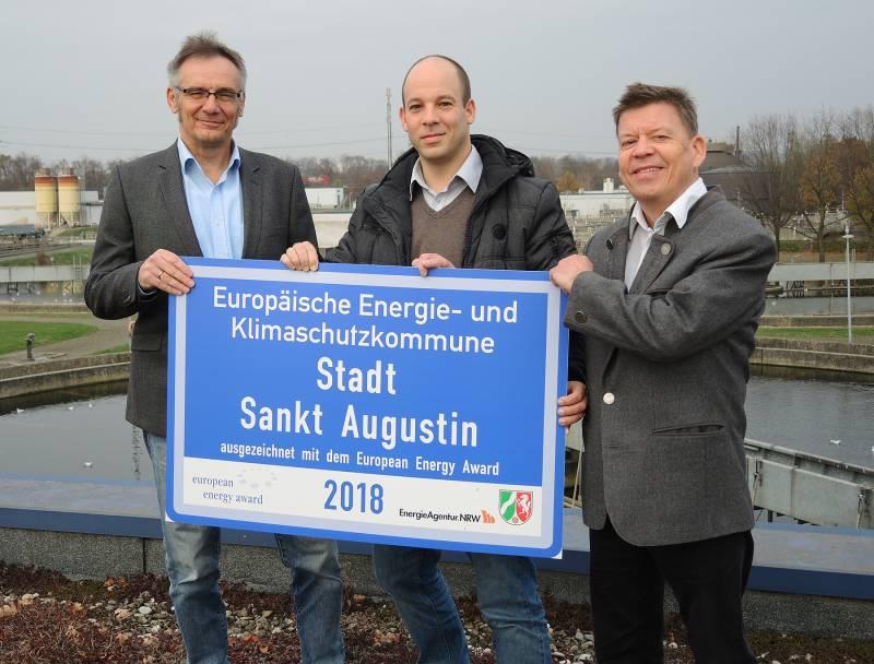 Stadt Sankt Augustin erhält den European Energy Award in Silber Quelle: Stadt Sankt Augustin