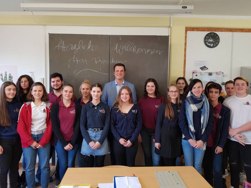 Landtagabgeordneter Björn Franken besucht das Kunstkolleg Quelle: Rhein-Sieg-Akademie, Kunstkolleg gGmbH