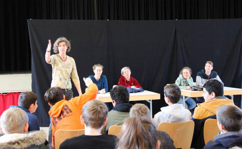Jugendschutzaktion begeisterte Schüler Quelle: Stadt Hennef