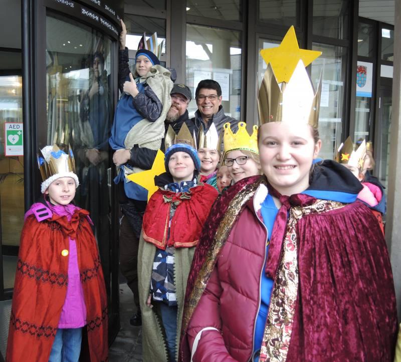 Sternsinger zu Gast im Rathaus Quelle: Stadt Sankt Augustin