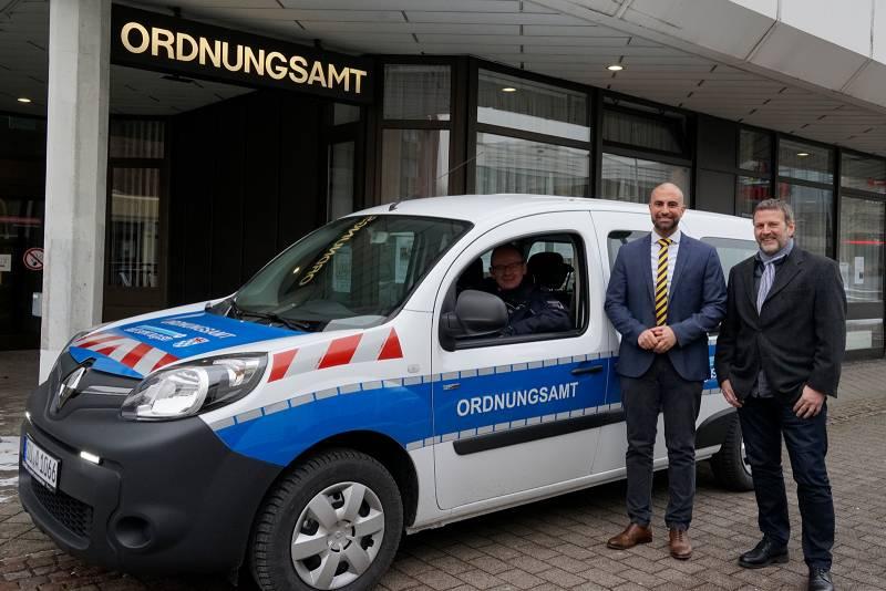 Ordnungsamt der Stadt Sankt Augustin nimmt erstes E-Fahrzeug in Betrieb Quelle: Stadt Sankt Augustin