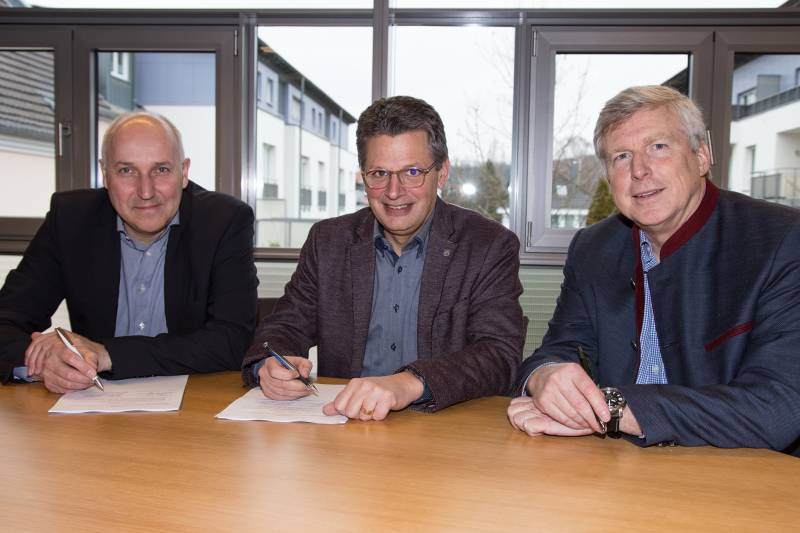 Gaskonzessionsvertrag unterschrieben Quelle: Stadt Hennef