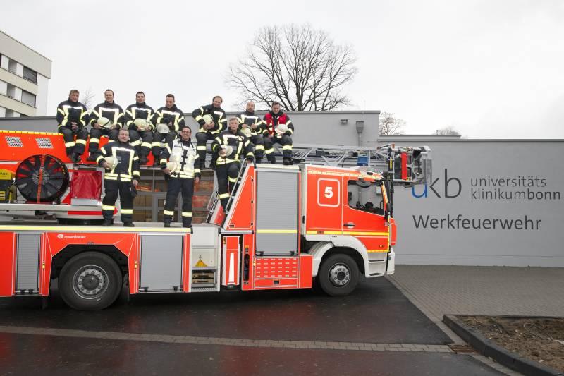Werkfeuerwehr am UKB hat Vollbetrieb aufgenommen Quelle: Universitätsklinikum Bonn