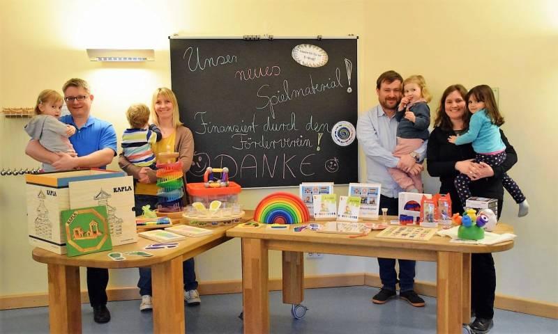 Spende für die Kita Am Krausacker:  Kinder probierten neue Spiele aus Quelle: Stadt Troisdorf