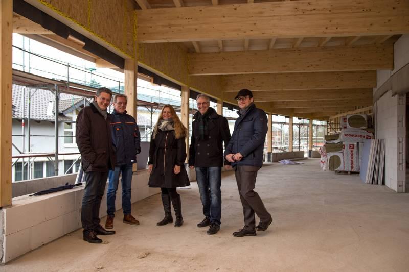 Bau im Zeitplan: Kita Gartenstraße wächst Quelle: Stadt Hennef