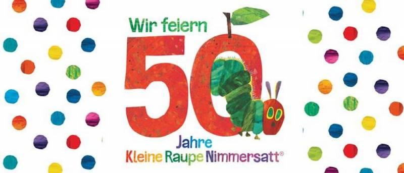 Wir feiern 50 Jahre Kleine Raupe Nimmersatt – Festwoche in der Stadtbücherei Quelle: Stadt Sankt Augustin