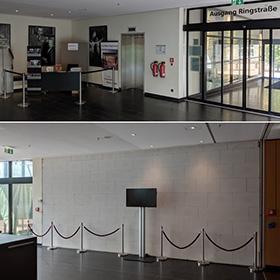 Weiße Wand statt schwarzer Vorhang Quelle: Stadt Siegburg