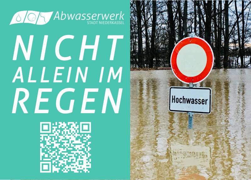 Bereit? – Der nächste Starkregen kommt! Quelle: Stadt Niederkassel