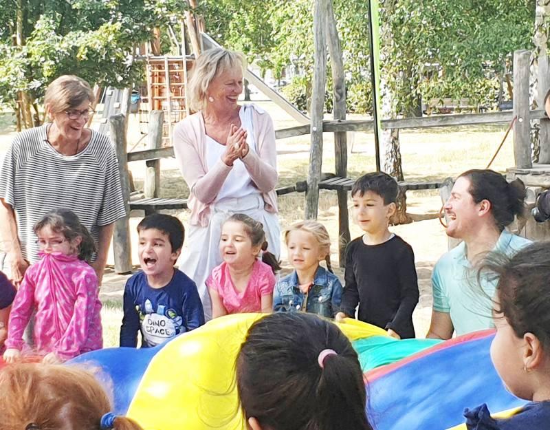 Hüttener Kinder bewegten sich spielend Quelle: Stadt Troisdorf
