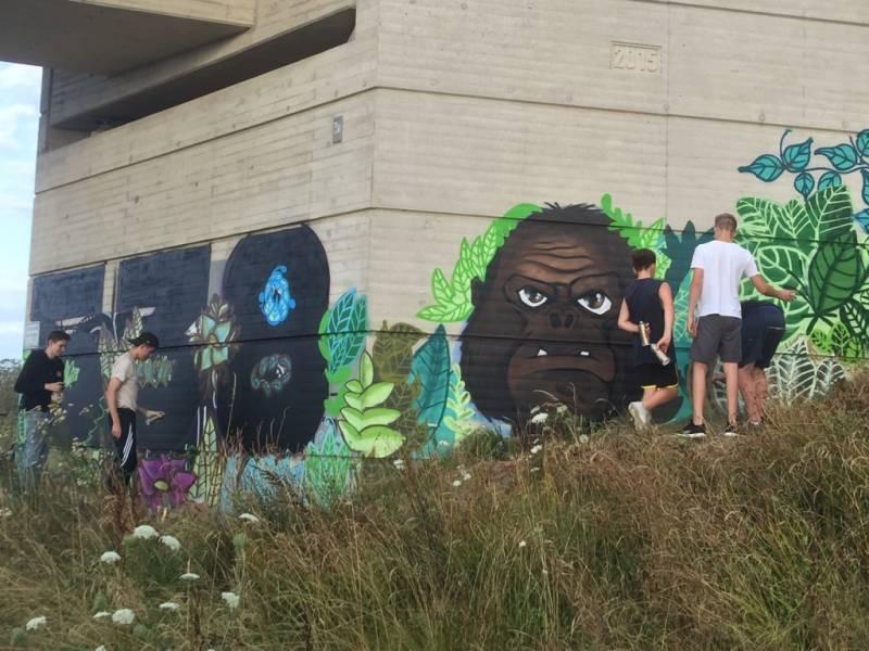 Graffiti-Projekt zweier Jugendzentren Quelle: Stadt Troisdorf