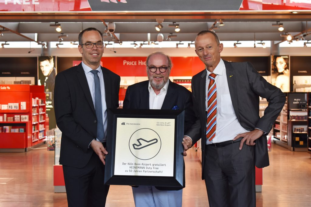 50 Jahre Duty Free: Gebr. Heinemann und Köln Bonn Airport feiern Jubiläum