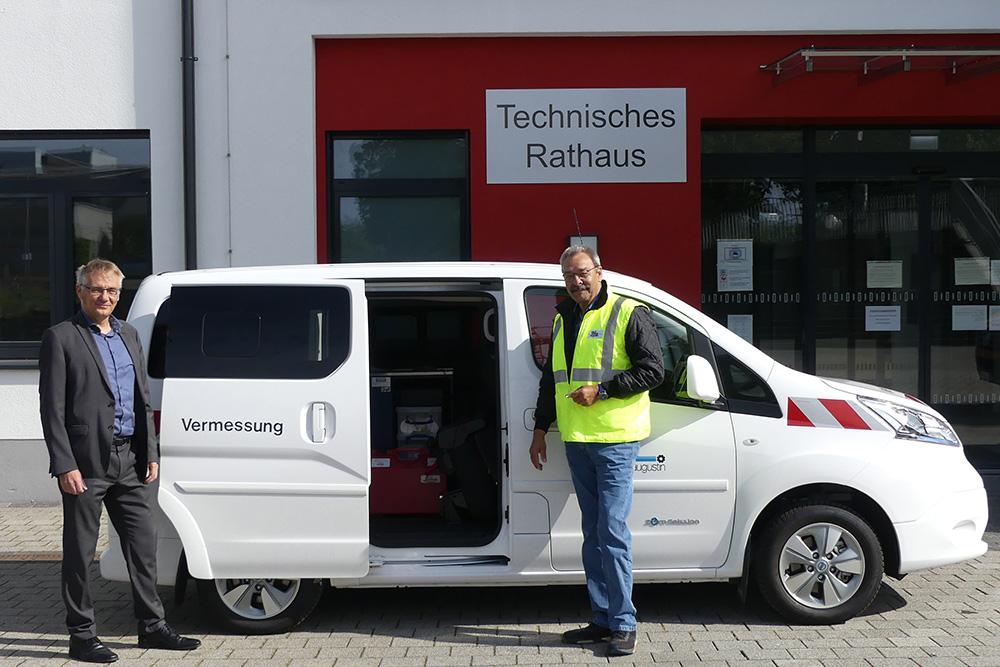 Stadt Sankt Augustin nimmt E-Fahrzeug für die Vermessung in Betrieb