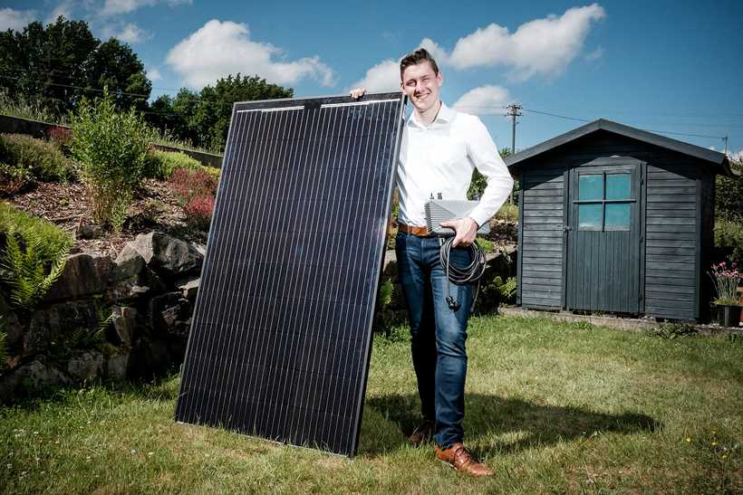 Solarstrom hausgemacht mit der SWB-Mini-Photovoltaikanlage
