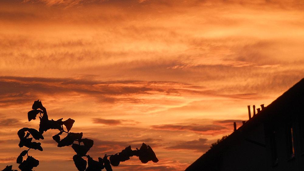 Feuerroter Morgenhimmel