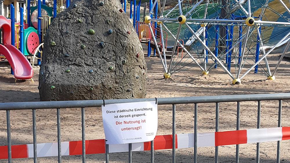 Spielplatz ab Montag 23.11 gesperrt