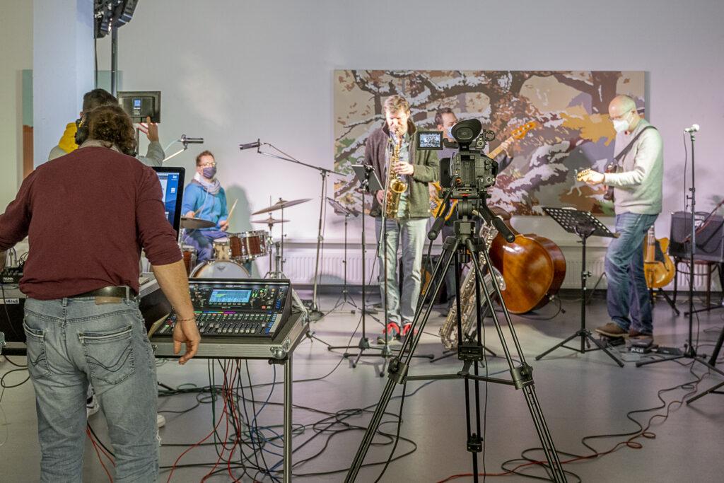 Erfolgreiche Premiere im Netz: Jazzsession aus dem Kunsthaus Troisdorf im Stream