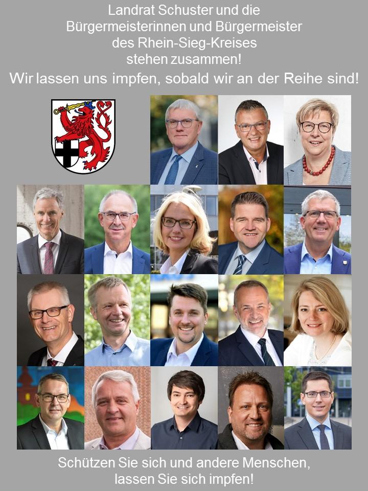 """""""Wir lassen uns impfen"""" – Landrat und Bürgermeisterinnen und Bürgermeister des Kreises stehen zusammen"""