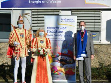 Prinz Heinz I + Augustina Mathilde I besuchen Stadtwerke Sankt Augustin