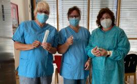 PM 157-2021 Ehrenamtliche Helferinnen beim Impfen Anja Moderegger, Nicol…
