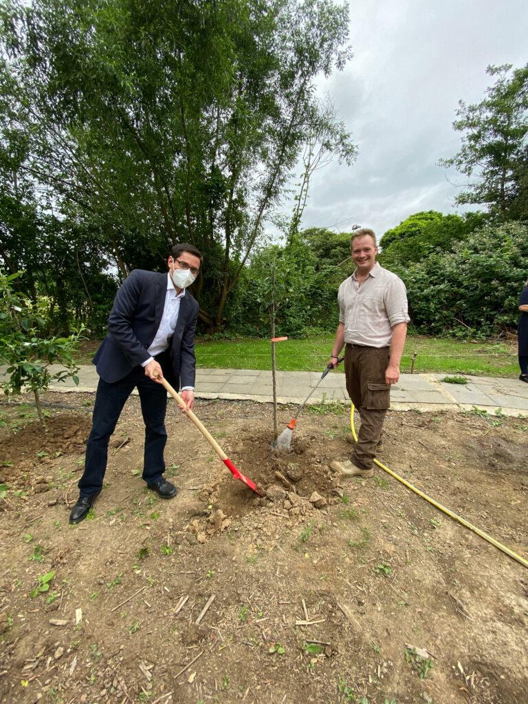 Schulgarten der Gemeinschaftshauptschule Niederpleis erblüht