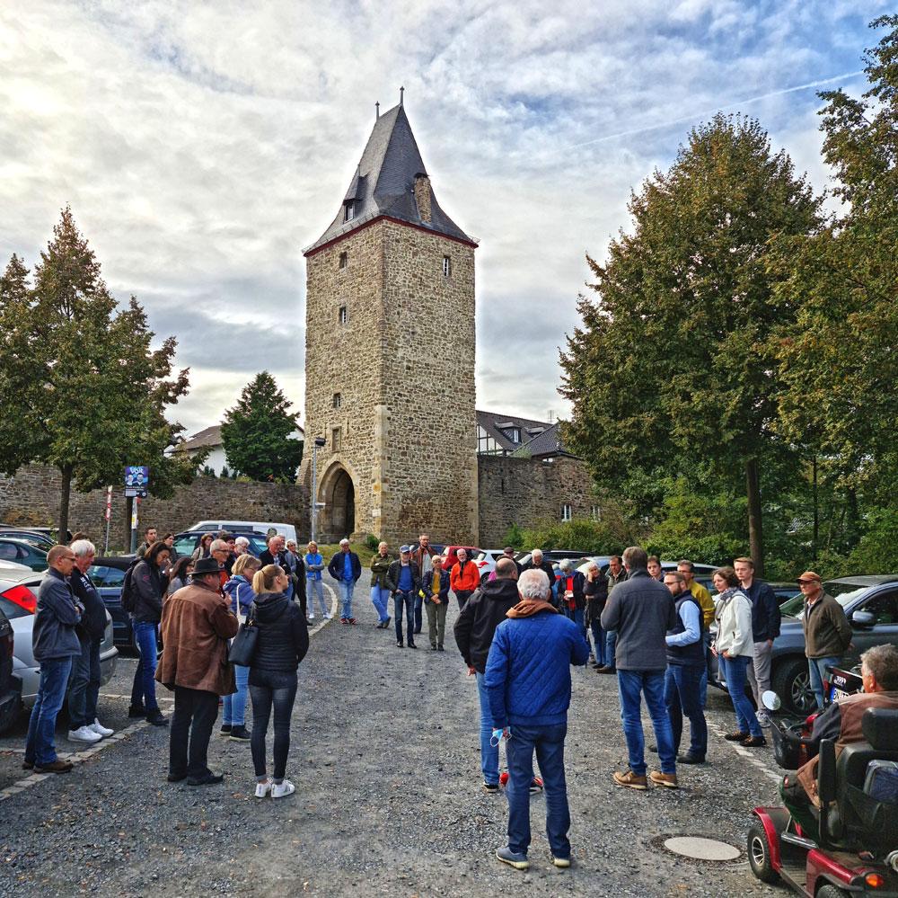 Mauerspaziergang Stadt Blankenberg mit über 30 Interessierten